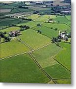 Co Fermanagh, Ireland Aerial View Of Metal Print