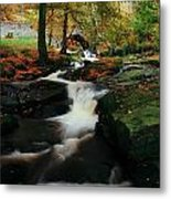 Co Wicklow, Ireland Waterfalll Near Metal Print