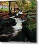 Co Wicklow, Ireland Waterfalll Near Metal Print