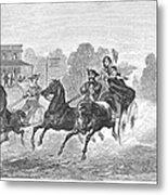 Coaching, 1860 Metal Print