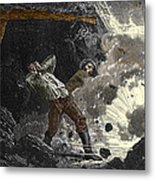 Coal Mine Explosion, 19th Century Metal Print by Sheila Terry