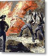 Coal Mine Fire, 19th Century Metal Print