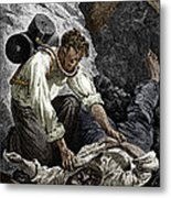 Coal Mine Rescue, 19th Century Metal Print by Sheila Terry