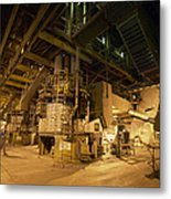 Coal-pulverising Unit At A Power Station Metal Print