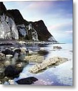 Coast Between Carnlough & Waterfoot, Co Metal Print