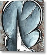 Coastal Art Contemporary Sailboat Painting Whimsical Design Shining Sea By Madart Metal Print