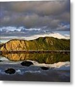 Coastal Cliffs In Evening Light Metal Print