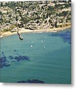 Coastal Community And Sailboats Metal Print by Eddy Joaquim