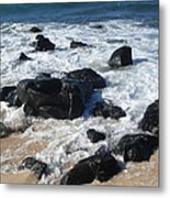 Coastal Rock Garden 2 Metal Print