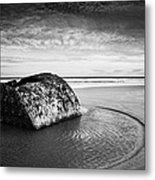 Coastal Scene Bw Metal Print