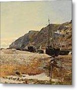 Coastal Scene Metal Print by Henry Moore