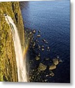 Coastal Waterfall Metal Print