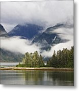 Coastline, Endicott Arm, Inside Metal Print
