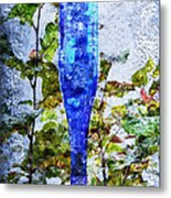 Cobalt Blue Bottle Triptych 1 Of 3 Metal Print by Andee Design