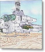 Cobra Attack Helicopter Metal Print