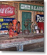 Coca Cola - Rexall - Ok Used Tires Signs And Other Antiques Metal Print