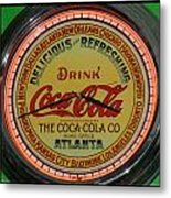 Coca Cola Clock Metal Print