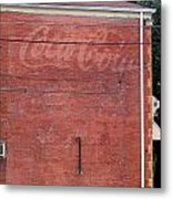 Coca Cola Faded Metal Print