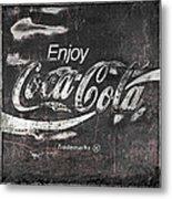 Coca Cola Pink Grunge Sign Metal Print