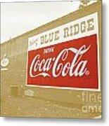 Coca-cola Sepia Metal Print
