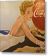 Coca Cola  Vintage Sign Metal Print