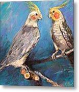 Coctaiel Parrots Metal Print