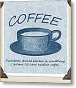 Coffee 1 Scrapbook Metal Print