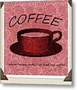 Coffee 2 Scrapbook Metal Print