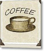 Coffee 3-2 Scrapbook Metal Print