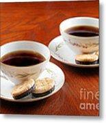 Coffee And Cookies Metal Print