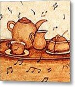 Coffee Break 2 Coffee Painting Metal Print