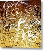 Coffee Flowers 1 Calypso Metal Print