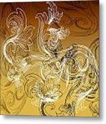 Coffee Flowers 2 Calypso Metal Print