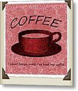 Coffee Flowers Scrapbook Triptych 1  Metal Print