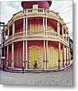 Coffee House With Boys Walking Metal Print
