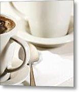 Coffee In Cup Metal Print by Blink Images