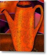 Coffee Pot Metal Print by Melisa Meyers