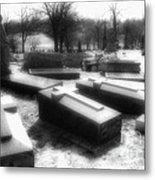 Coffins And Angel Metal Print
