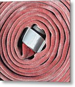 Coiled Fire Hose Metal Print by Skip Nall