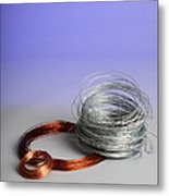 Coiled Wires Metal Print