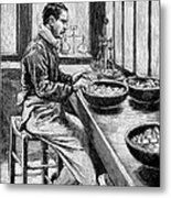 Coin Production, 19th Century Metal Print