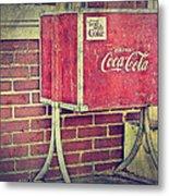 Coke Box Metal Print