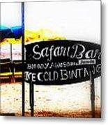 Cold Bintang At The Safari Bar In Bali Metal Print by Funkpix Photo Hunter