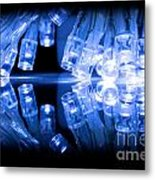 Cold Blue Led Lights Closeup Metal Print