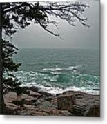 Cold Green Surf Metal Print by Skip Willits