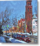 Cold Morning In Elmwood Ave  Metal Print