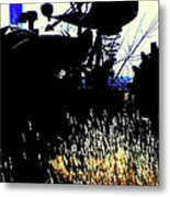 Cold Morning Tractor  Metal Print