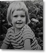 Colette Happy 4 Years Old In France Metal Print