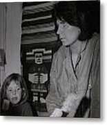 Colette With Mamma Chris In Their Ice Kiosk In Denmark At The Time  Metal Print
