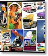 Collage Of Toons 1 Metal Print